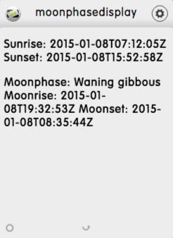 Write a moon phase display with Ajax and webservices - dizmo