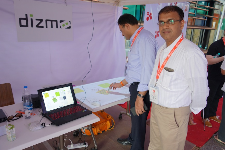 Dizmo at Construkt, invited by swissnex india