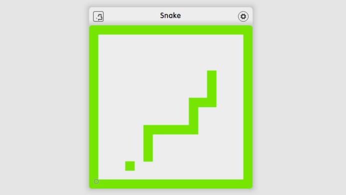 Recreating the classic video game Snake with dizmo
